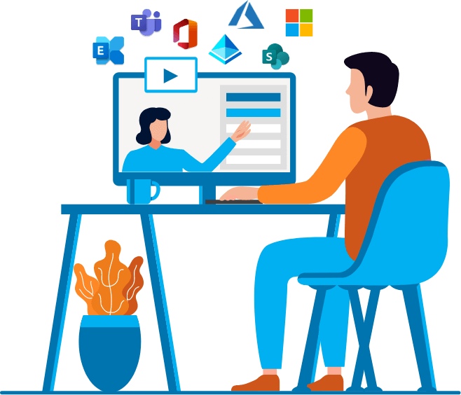 Microsoft Cloud expert teaching a workshop
