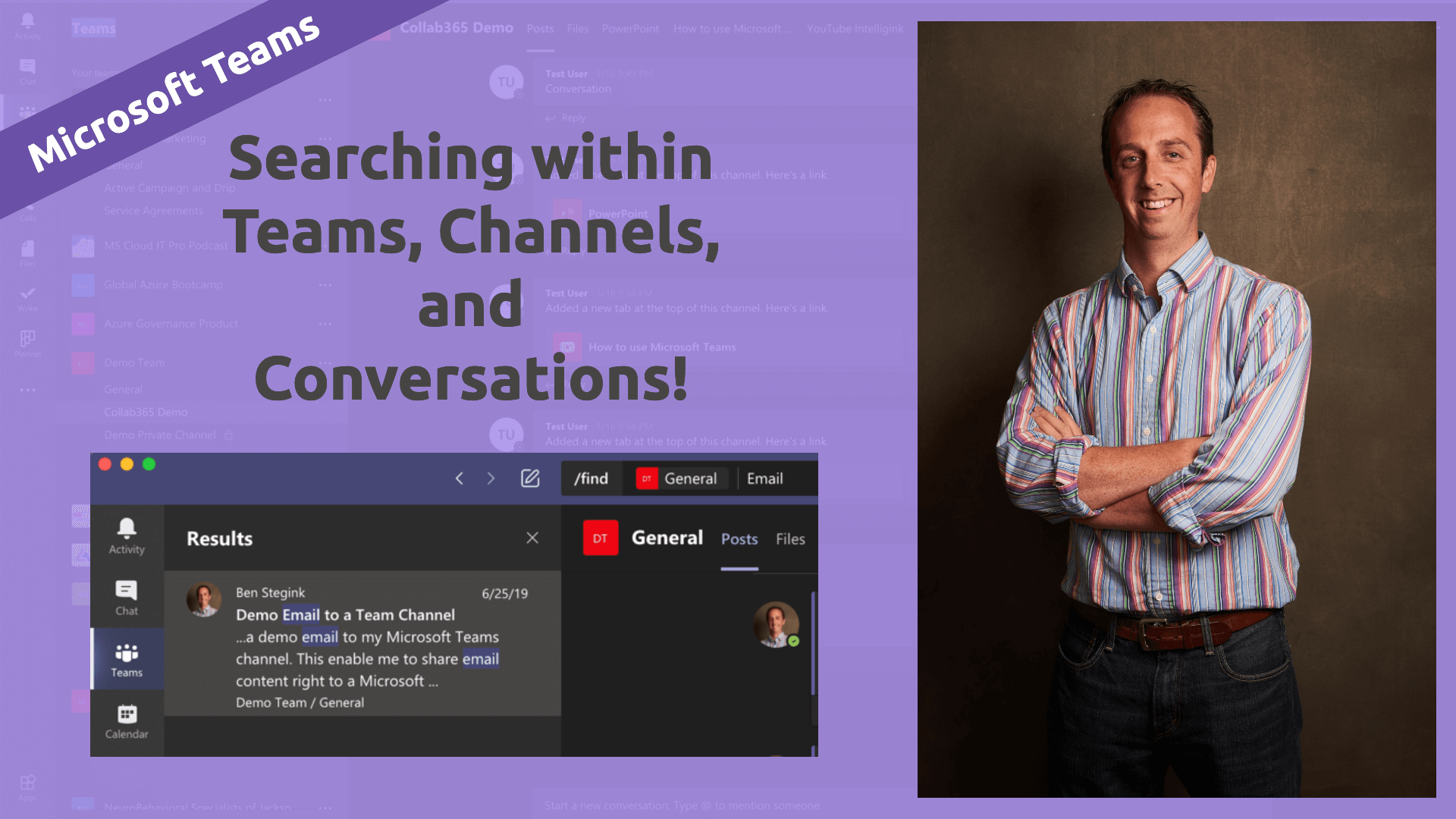 Title image on searching in Microsoft Teams